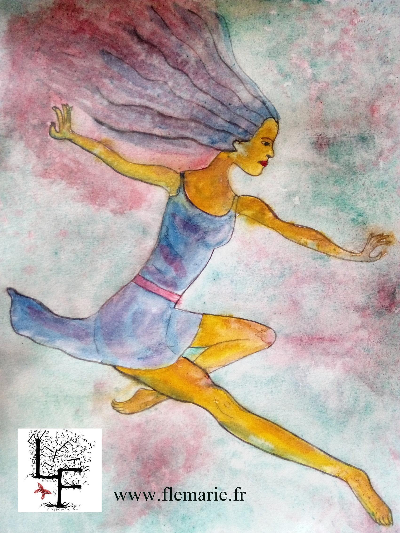 Danseuse  Aquarelle sur papier