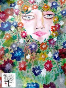 Le printemps  Aquarelle sur papier A2 300g/m2