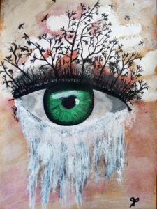 L'oeil de la vie  Acrylique