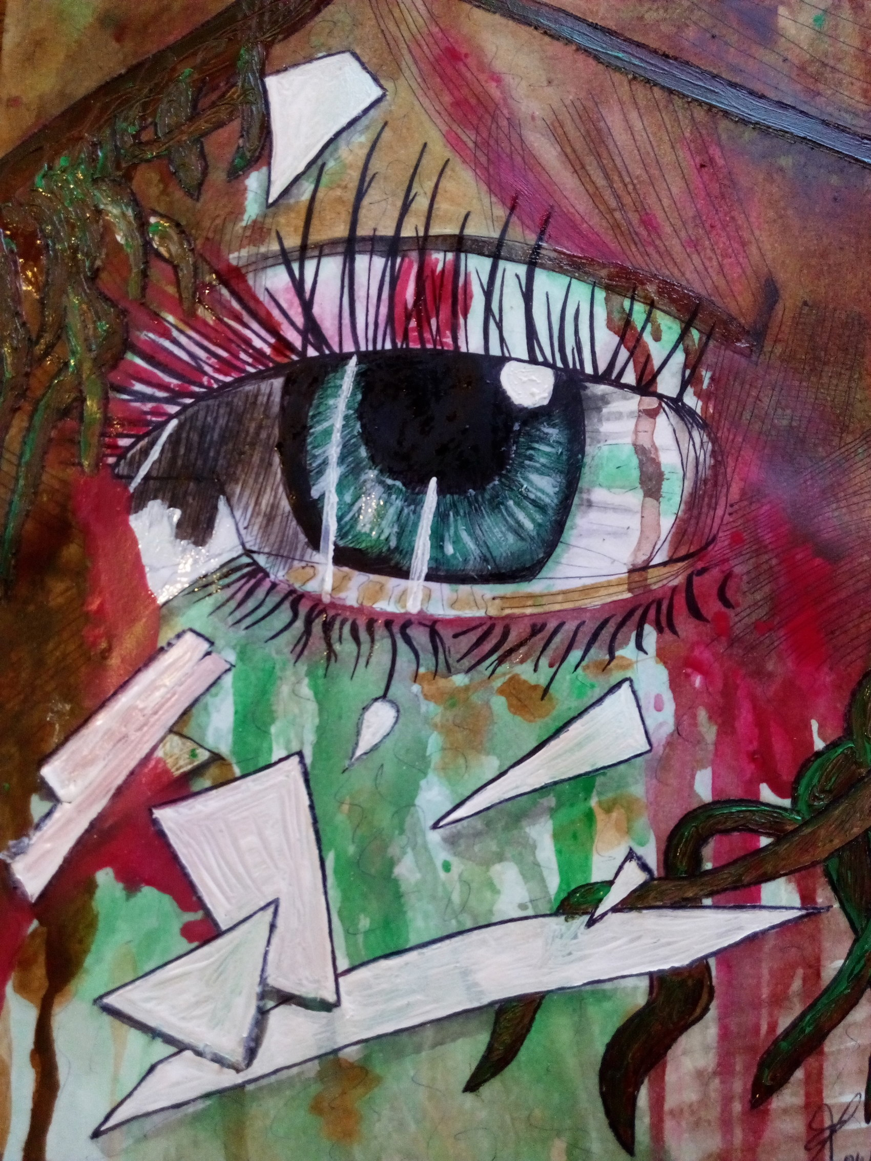 Oeil brisé  Acrylique