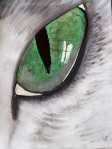 Oeil de chat  Acrylique