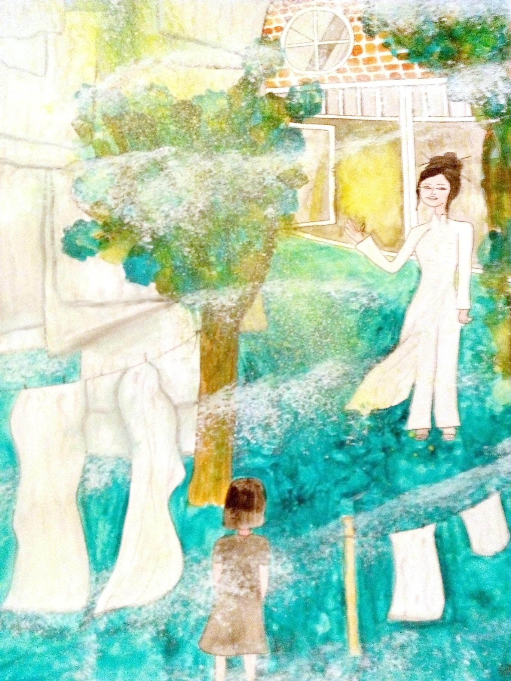 Rêve d'enfant  Aquarelle et gouache sur papier