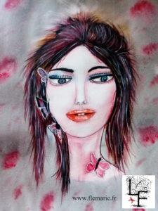 Rose  Aquarelle sur papier