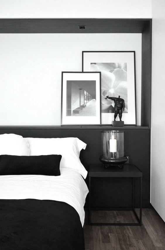 Décoration noir et blanc