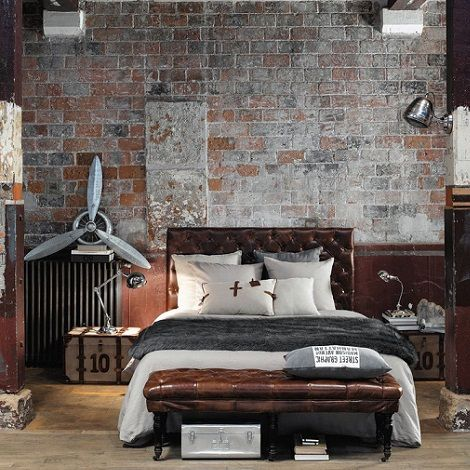 des chambres au style industriel floriane lemari. Black Bedroom Furniture Sets. Home Design Ideas