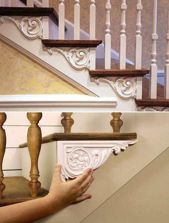 DIY : habillez vos marches d\'escalier avec des moulures d\'angles ...