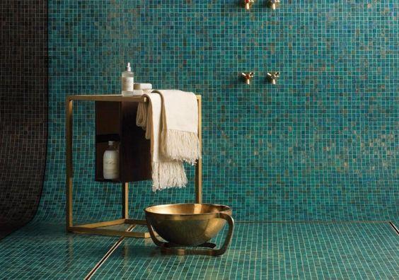 Mosaïque salle de bain