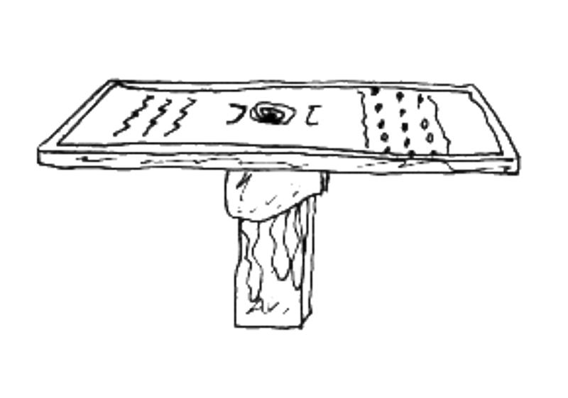 Table basse Tribal par Floriane Lemarié